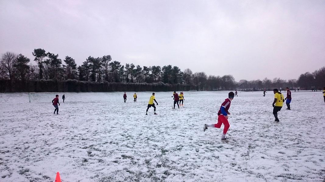 Wilde Liga Winterpause Schnee